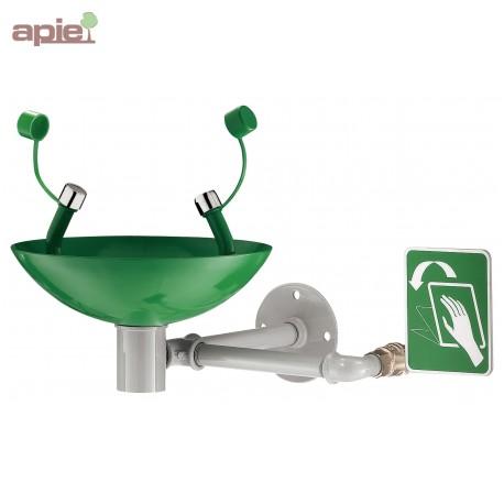 Laveur oculaire de sécurité mural vasque en inox