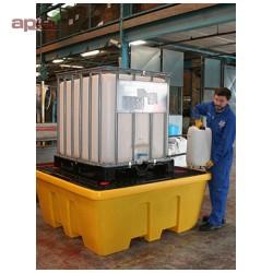 Bac de rétention en PEHD pour 1 cubitainer de 1000 L - Emboitable