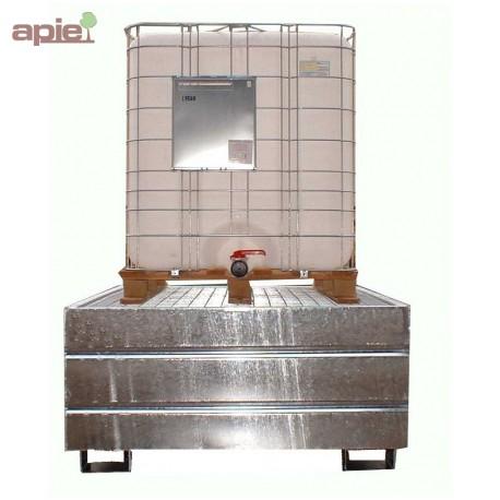 Bac de rétention en acier pour 1 cubitainer de 1000L
