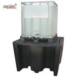 Bac de rétention en PEHD pour 1 cubitainer de 1000 L, gamme BECO