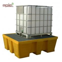 Bac de rétention en PEHD pour 1 cubitainer de 1000 L, vol. 1000L