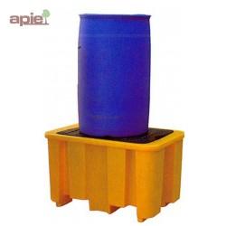 Bac de rétention en PEHD pour 1 fût de 220 L - gamme BECO
