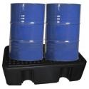 Bac de rétention en PEHD pour 2 fûts de 220 L - gamme BECO