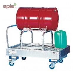 Support en acier galvanisé pour 1 fût de 220 L horizontal