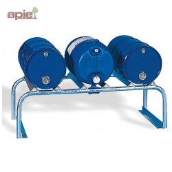 Support en acier galvanisé pour 3 fûts de 60 L horizontaux