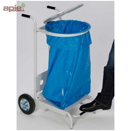 Support sac poubelle mobile avec ouverture par pédale
