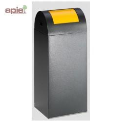 Poubelle 60 L anti-feu - tri sélectif - couleur gris foncé