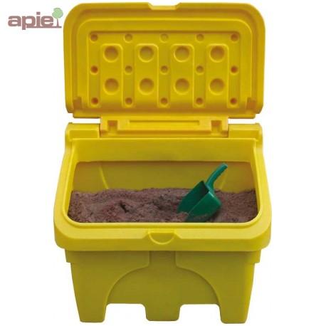 Coffre à sel ou sable 130L jaune