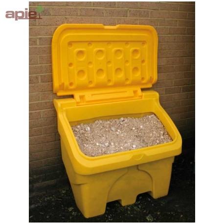 Coffre à sel ou sable 200 L jaune