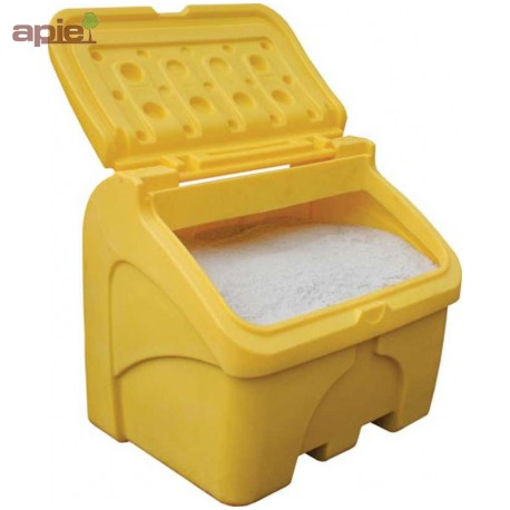 Coffre à sel ou sable 400 L jaune