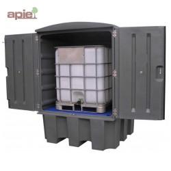 Armoire de stockage pour 1 conteneur de 1000L, finition polyéthylène