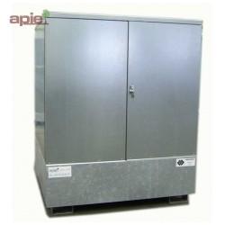 Armoire de stockage pour 4 fûts de 220 L, finition acier galvanisé