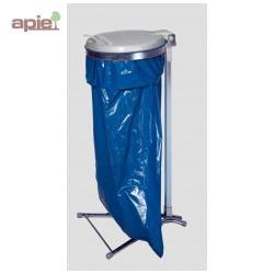 Support sac poubelle sur pieds avec couvercle plastique