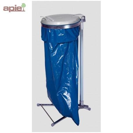 support sac poubelle sur pieds avec couvercle plastique ou m tallique. Black Bedroom Furniture Sets. Home Design Ideas