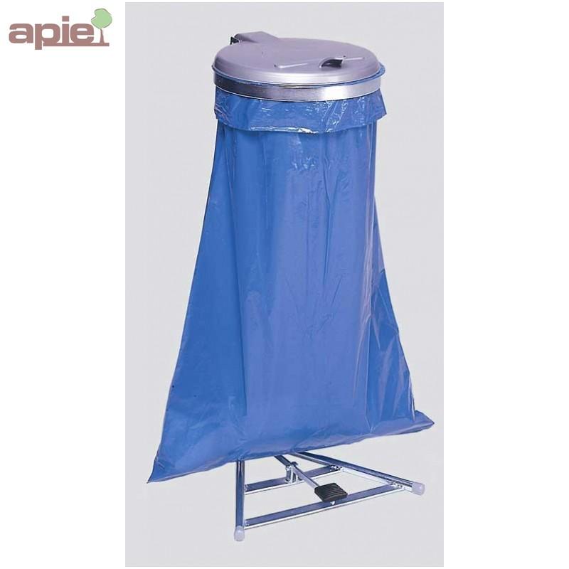 support sac poubelle avec p dale couvercle plastique. Black Bedroom Furniture Sets. Home Design Ideas