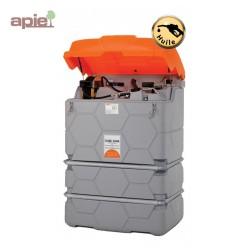 Station 2500 L pour distribution de Lubrifiants - modèle cube avec capot