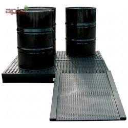 Plateforme de rétention PEHD Ht 150 mm - 240 L, gamme BECO
