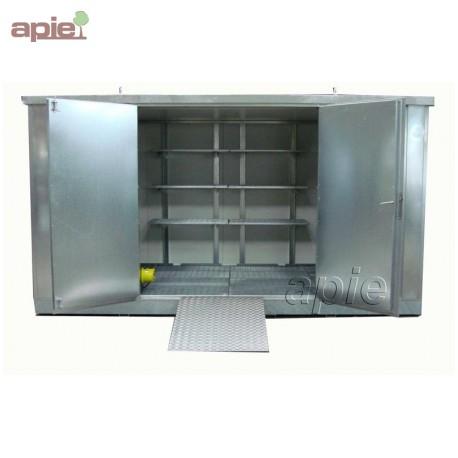 Entrepôt de stockage en rétention 4 x 2 m, gamme MSR