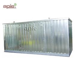 Entrepôt de stockage en rétention 6 x 2 m, gamme MSR