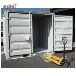 """Conteneur de stockage en rétention 3 x 2,2 m, gamme CSR """"sécurité renforcée"""""""