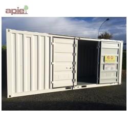 """Entrepôt de stockage en rétention 6 m x 2,2 m, gamme CSR """"sécurité renforcée"""""""