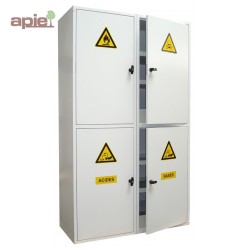 Armoire 4 compartiments, Inflammables / Toxiques / Acides / Bases