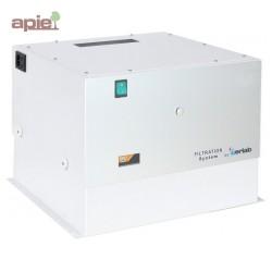 Caisson de ventilation et de filtration au charbon actif