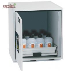 Armoire avec étagère coulissante pour produits corrosifs modèle bas 1 porte