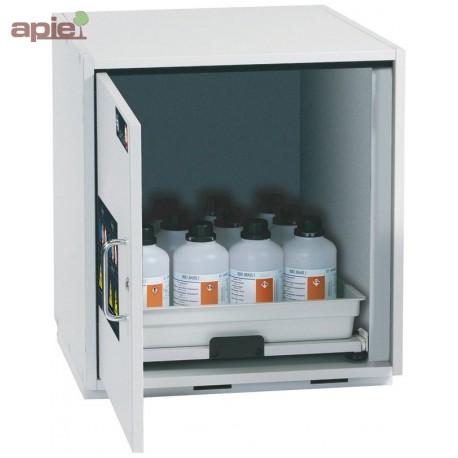 armoire avec tag re coulissante pour produits corrosifs mod le bas 1 porte. Black Bedroom Furniture Sets. Home Design Ideas