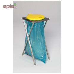 Support sac poubelle en INOX avec couvercle plastique