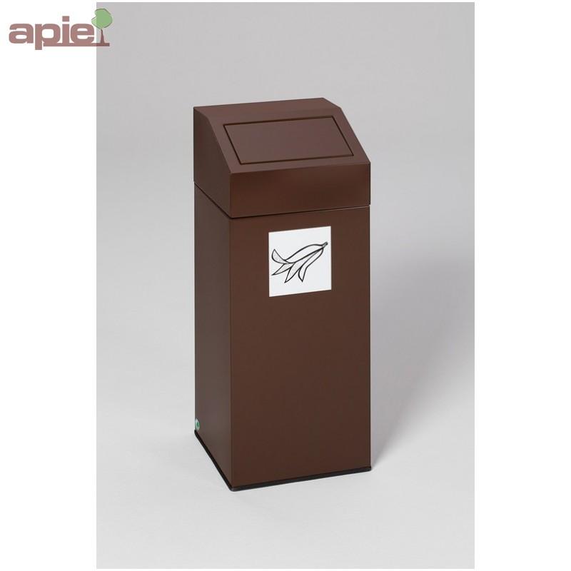 conteneur en acier pour tri s lectif volume 76 l. Black Bedroom Furniture Sets. Home Design Ideas