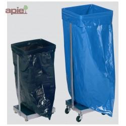 Support sac poubelle en acier galvanisé