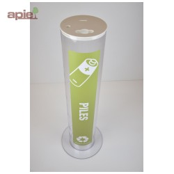 Collecteur pour piles usagées - modèle transparent 30 Litres