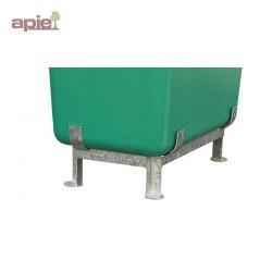 Cadre piètement en acier galvanisé pour bac rectangulaire en polyester