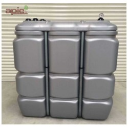 Cuve 1500 L pour fioul / gasoil / GNR, double paroi en polyéthylène - Gamme CFPE