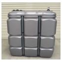 Cuve 1500 L pour fioul / gasoil / GNR, double paroi en polyéthylène - Gamme CFPE (Intégrale)