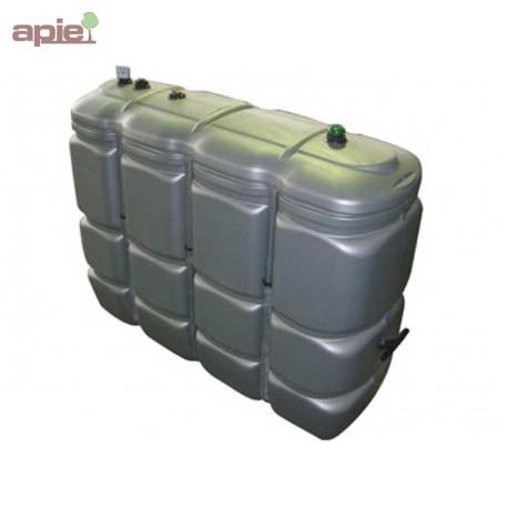 Cuve 2000 L pour fioul / gasoil / GNR, double paroi en polyéthylène - Gamme CFPE