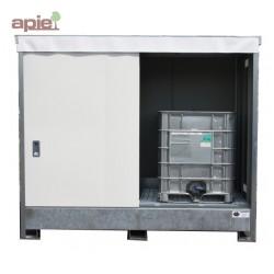 Armoire pour 8 fûts ou 2 conteneurs de 1000 L - hauteur standard