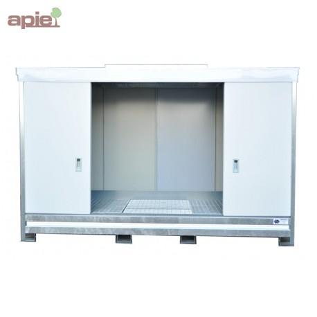 Armoire pour 12 fûts ou 3 conteneurs de 1000 L - hauteur standard