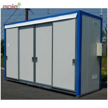 Armoire isolée pour 12 fûts ou 3 conteneurs 1000L, gamme intégrale