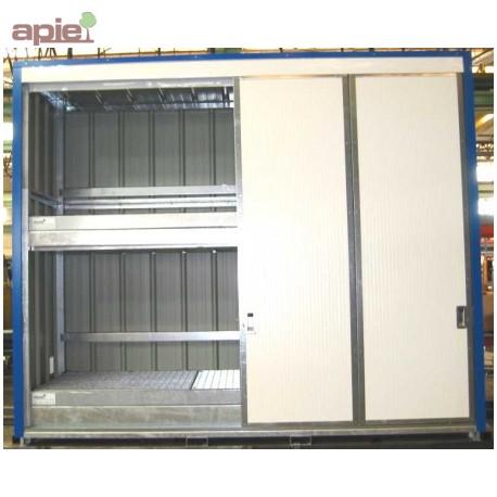 Armoire pour 24 fûts ou 6 conteneurs 1000L, gamme intégrale
