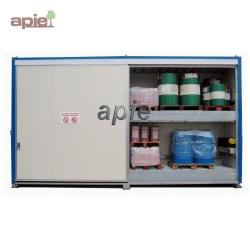 Armoire isolée pour 32 fûts ou 8 conteneurs 1000L, gamme intégrale