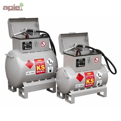 Station de ravitaillement 200L essence et mélange huile/essence, ADR
