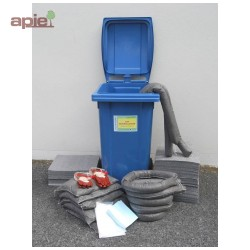 Kit absorbants 240 L conteneur mobile anti-pollution