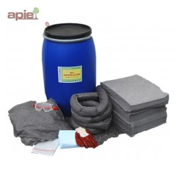 Fût d'intervention antipollution - Kit absorbants 120 L