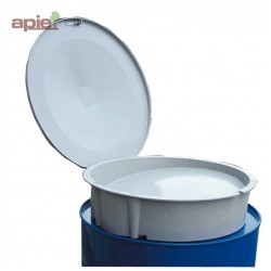 Entonnoir en polyester avec couvercle pour fût et réservoir