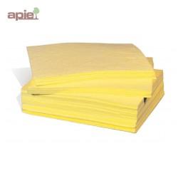 100 feuilles absorbantes pour produits chimiques