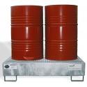 Bacs de rétention en acier galvanisé à chaud pour fûts