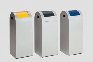 Poubelles anti-feu pour le tri sélectif des déchets