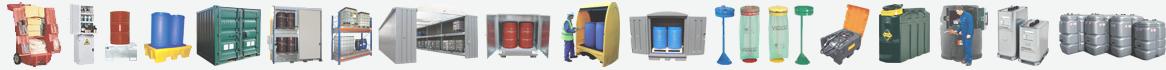 équipements de stockage pour produits polluants